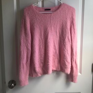 Candy Pink Fuzzy Sweater